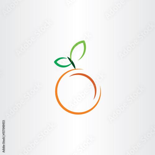 orange icon fruit vector sign - 157048453