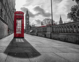 red telephone box at Big Ben - 157049823