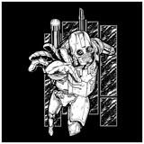 Steampunk Robot Wall Sticker