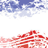 Header Footer United States patriotic design with stars and stripes for Memorial Day on a white background - 157081890