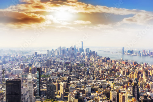 Panoramic view of Manhattan. Poster