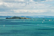 The beautiful landscape of Motuihe Island and Hauraki Gulf of North Island, New Zealand.