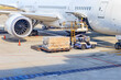 Quadro Loading platform of air freight to the aircraft