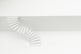 White stair abstract background. 3d illustration.