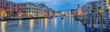 Leinwanddruck Bild - Italien Venedig Rialto Panorama beleuchtet