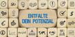 Entfalte Dein Potenzial / Würfel mit Symbole