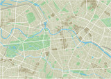 Vector city map of Berlin with well organized separated layers. - 157136427