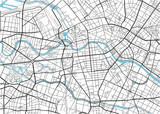 Black and white vector city map of Berlin with well organized separated layers. - 157136443