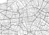 Black and white vector city map of Berlin with well organized separated layers. - 157136463