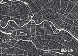 Minimalistic Berlin city map poster design. - 157136629
