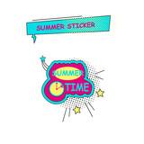 Halftone summer sticker