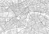 Black and white vector city map of London with well organized separated layers. - 157138207