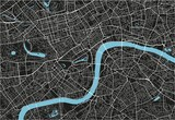 Black and white vector city map of London with well organized separated layers. - 157138239