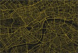 Black and yellow vector city map of London with well organized separated layers. - 157138257