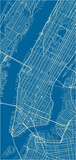 Blue and White vector city map of New York with well organized separated layers. - 157139041