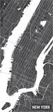 Minimalistic New York city map poster design. - 157139064