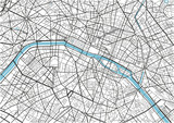 Black and white vector city map of Paris with well organized separated layers. - 157139402