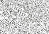 Black and white vector city map of Paris with well organized separated layers. - 157139435