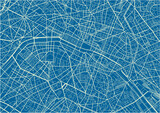 Blue and White vector city map of Paris with well organized separated layers. - 157139690