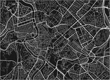 Black and white vector city map of Rome with well organized separated layers. - 157140407