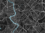 Black and white vector city map of Rome with well organized separated layers. - 157140432