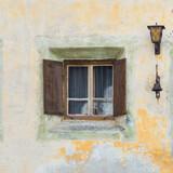 Typical Swiss mountain village window