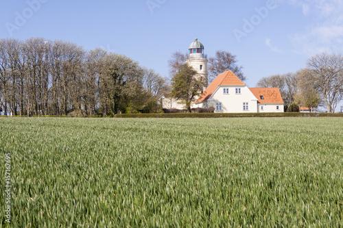 Poster Lighthouse near Sonderby, Denmark