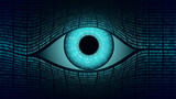 Big brother electronic eye concept, technologies for the global surveillance, security of computer systems and networks - 157173650