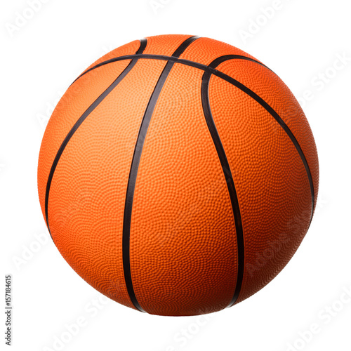 Plexiglas Basketbal Basketball ball isolated on white background
