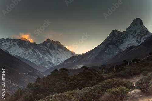 Sunrise in Himalayas Poster