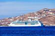 Cruise ship near Mykonos