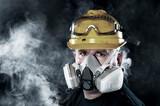 Man wearing respirator - 157192266