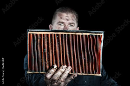 obraz lub plakat Mechanic and air filter
