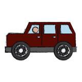 car icon over white background. colorful design. vector illustration