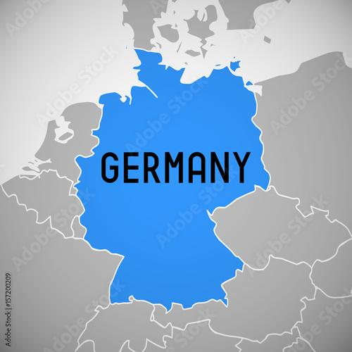 Fototapeta Germany - map