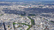 Aerial view of city of Paris from Eiffel tower with beautiful scattered clouds, Paris, France