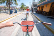 First Person View riding Bike with Woman in Mexico
