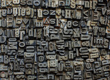 metal letters background - 157206873