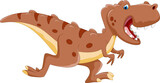 Cute tyrannosaurus cartoon running