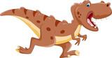 Cute tyrannosaurus cartoon running