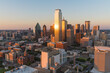 Dallas City Skyline Sunset