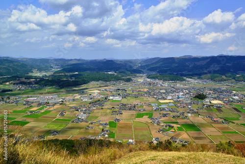Foto op Canvas Pistache 伐株山から玖珠の町