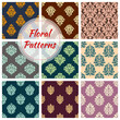 Seamless floral patterns of vector flower ornament - 157216059
