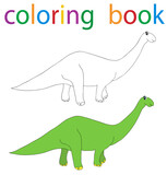 Book Coloring Cartoon Dinosaur Wall Sticker