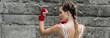 Quadro Female boxer training