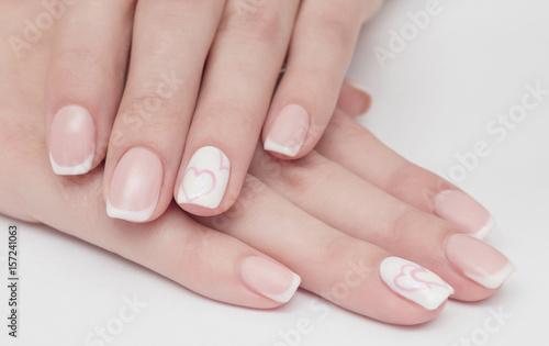 Fotobehang Manicure nails