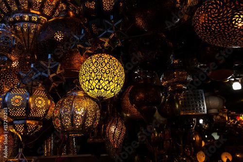 Foto op Canvas Marokko store in street market