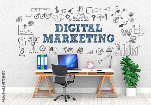 Digital Marketing! / Office / Wall / Symbol