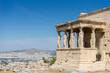 Caryatides, Erechtheion temple Acropolis in Athens, Greece