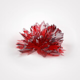 Crystal on white background